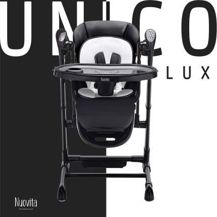 Стульчик для кормления с электронным устройством качения 2 в 1 Nuovita Unico lux Nero