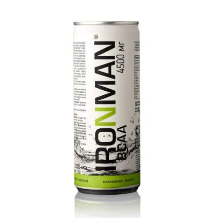 Напиток с bcaa Ironman BCAA, 250 мл, карамбола/яблоко
