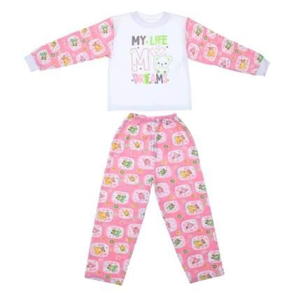 Пижама детская Bossa Nova, цв. белый; розовый р.98