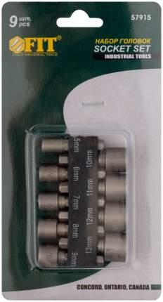 Набор усиленных головок 9 шт. (5-13 мм) FIT 57915