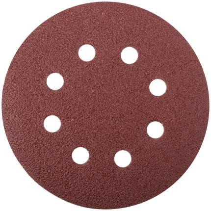 Круги шлифовальные с отверстиями (липучка), 125 мм, Р 80 FIT 39664