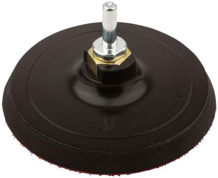 Диск шлифовальный с липучкой 125х10мм, гайка М14 + переходник для дрели FIT 39627