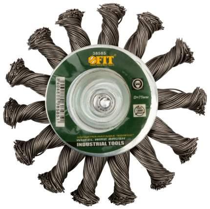 Корщетка-колесо, 75 мм, штифт, сталь FIT 38585