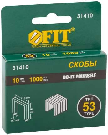 Скобы для степлера (тип 53) 10 мм, 1000 шт. FIT 31410
