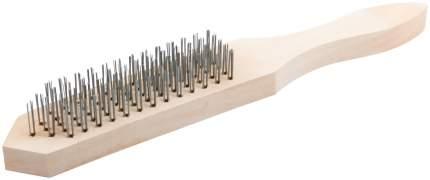 Корщетка с деревянной ручкой 5-ти рядная FIT 38405