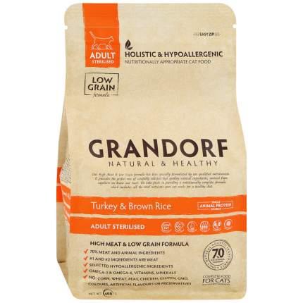 Сухой корм для кошек Grandorf Sterilised , индейка, 0.4кг