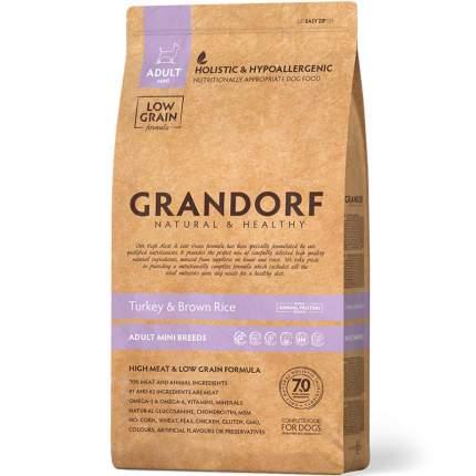 Сухой корм для собак Grandorf , индейка, рис, 3кг