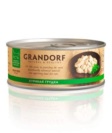 Консервы для кошек Grandorf, курица, 6шт, 70г