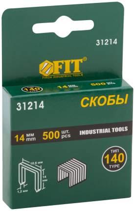 Скобы для степлера (тип 140)  14 мм, 500 шт. FIT 31213