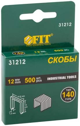 Скобы для степлера (тип 140)  12 мм, 500 шт. FIT 31212