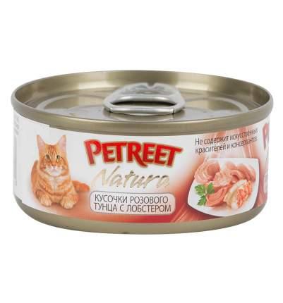 Консервы для кошек Petreet, тунец, морепродукты, 24шт, 70г