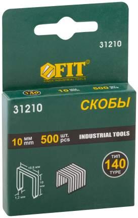 Скобы для степлера (тип 140)  10 мм, 500 шт. FIT 31210