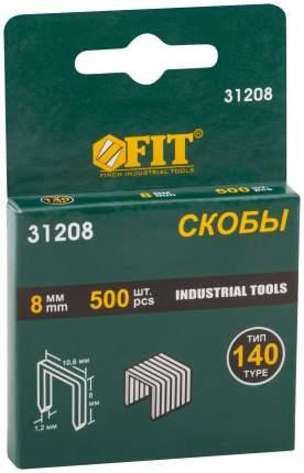 Скобы для степлера (тип 140)  8 мм, 500 шт. FIT 31208