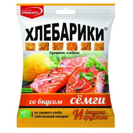 Сух. хлеб. 40г ХЛЕБАРИКИ со вкус. Сёмги *40*10 шт