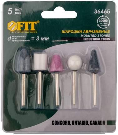 Шарошки абразивные по металлу, 5 шт. (малые) FIT 36465
