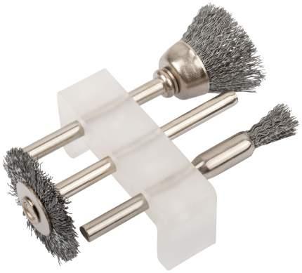 Корщетки стальные, набор 3 шт FIT 36903