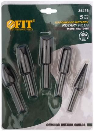 Шарошки стальные по металлу, 5 шт. FIT 36475