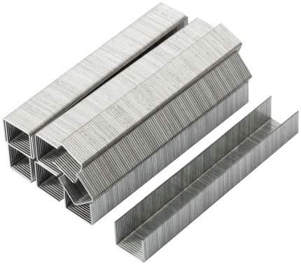 Скобы для степлера закаленные 11,3 мм х 0,7 мм, (узкие тип 53) 10 мм, 1000 шт КУРС 31363