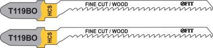 Пилки для лобзиков по дереву, 82/56/2 мм (Т119ВО), 2 шт. FIT 40937