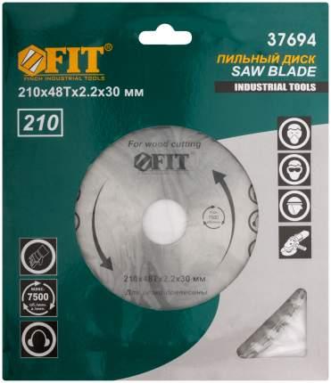 Диск пильный по дереву, 210 х 30 х 48 Т FIT 37694