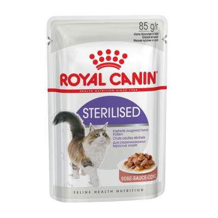 Влажный корм для кошек ROYAL CANIN Sterilised, мясо, 24шт, 85г