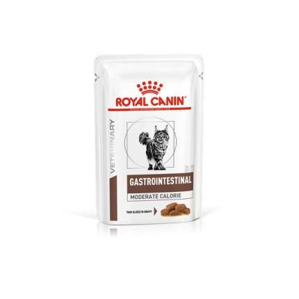 Влажный корм для кошек ROYAL CANIN Gastrointestinal Moderate Calorie, мясо, 12шт, 85г