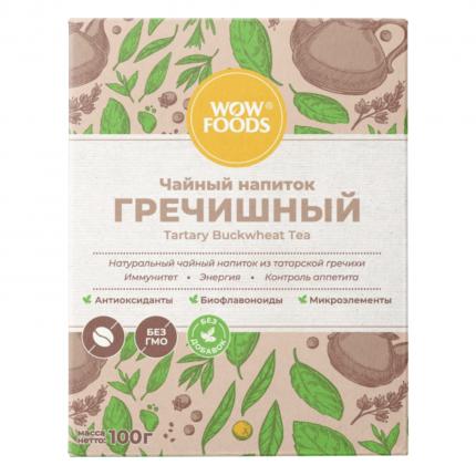 Чайный напиток гречишный WOWFOODS молодые зерна татарской гречихи 100 г