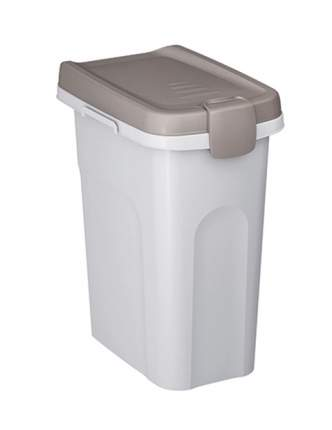 Контейнер для хранения корма Stefanplast, белый, 6 кг/15 л