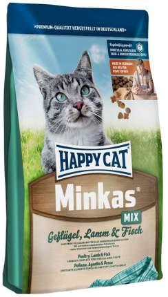 Сухой корм для кошек Happy Cat Minkas Perfect Mix, птица, ягненок, рыба, 1,5кг