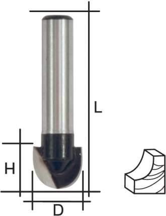 Фреза пазовая галтельная, DxHxL = 10 х 6,5 x 40 мм  FIT 36648