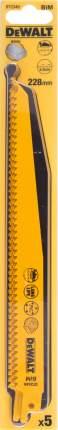 Полотно для сабельной пилы DEWALT 228мм, TPI 6, BIM, 5шт/уп (DT2349-QZ)