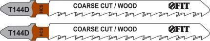 Пилки для лобзиков по дереву, 100/74/4,2 мм (Т144D), 2 шт. FIT 40938