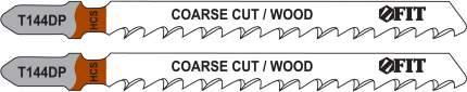 Пилки для лобзиков по дереву, 100/74/4 мм (T144DP), 2 шт. FIT 40939