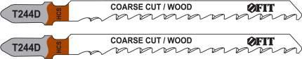 Пилки для лобзиков по дереву, 100/74/4,2 мм (T244D), 2 шт. FIT 40940