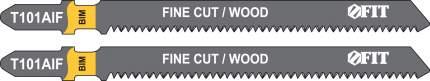 Пилки для лобзиков по дереву, 100/77/1,7 мм (T101AIF) 2шт. FIT 40953