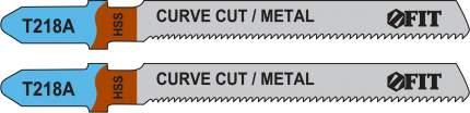 Пилки для лобзиков по металлу,  76/51/1,1 мм (T218A), 2 шт. FIT 40965