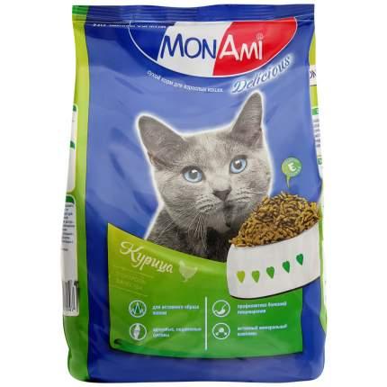 Сухой корм для кошек Mon Ami с курицей, профилактика МКБ, 400г