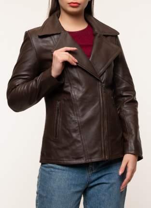 Кожаная куртка женская Gotthold 45348 коричневая 50 RU