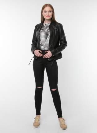 Кожаная куртка женская Gotthold 34351 черная 48 RU