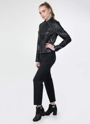 Кожаная куртка женская Каляев 31674 синяя 50 RU