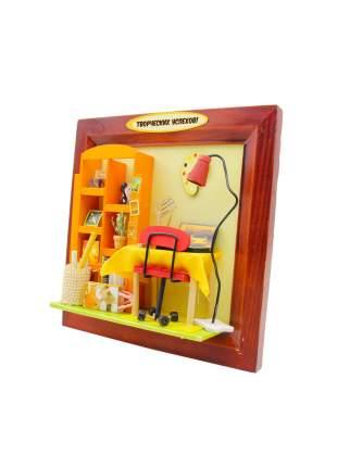 "Румбокс DIY MINIHOUSE (HOBBY DAY)  Настенная рамка-открытка ""Творческих успехов!"" 13632"