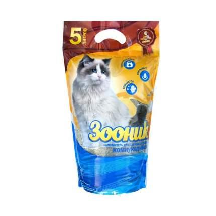 Комкующийся наполнитель для кошек Зооник бентонитовый, 4.3 кг, 5 л