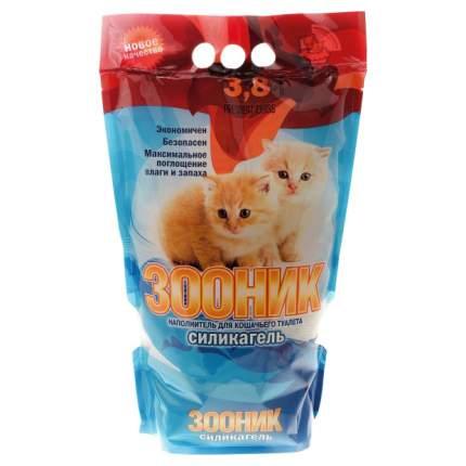 Впитывающий наполнитель для кошек Зооник силикагелевый, 1.925 кг, 3.8 л