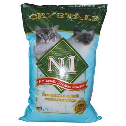 Впитывающий наполнитель для кошек №1 Crystals силикагелевый, 5 кг, 12,5 л