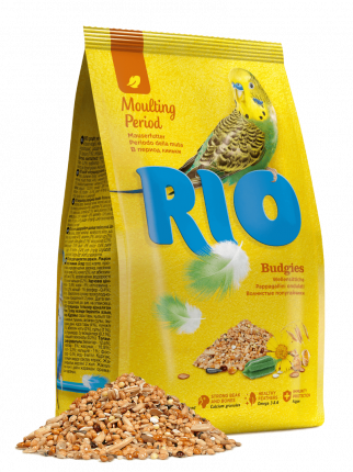 Корм для волнистых попугаев RIO Budgies в период линьки, 500 г