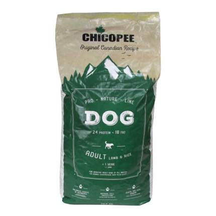 Сухой корм для собак Chicopee Pro Nature Line Adult Lamb&Rice, ягненок, рис, 20кг
