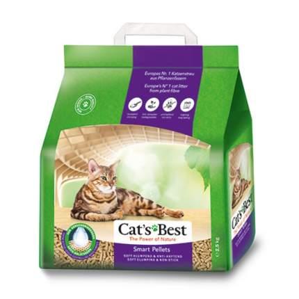 Комкующийся наполнитель для кошек CAT'S BEST Smart Pellets древесный, 2,5 кг, 5 л