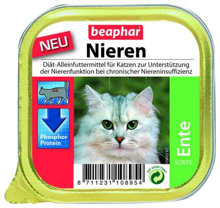Консервы для кошек Beaphar Nieren с заболеваниями почек, с уткой, 100г