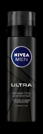 Гель для бритья Nivea Ultra Черный С Активным Углем 200 мл