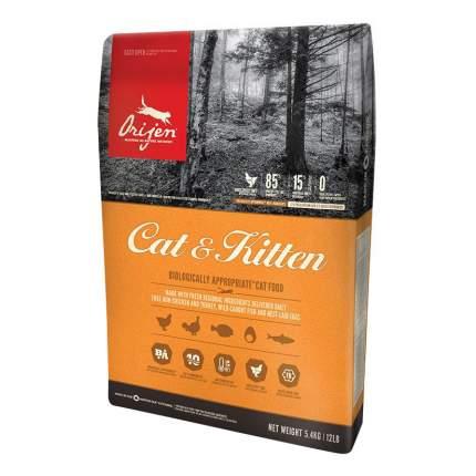 Сухой корм для кошек и котят Orijen Cat & Kitten, цыпленок, 5,4кг